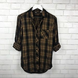 BDG Urban Outfitters Tan, Black Flannel SZ S
